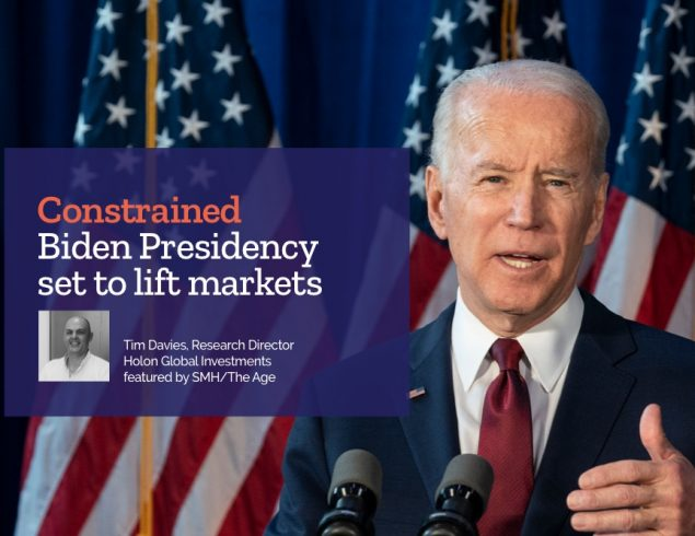 'Constrained' Biden Presidency set to lift markets – Tim Davies, Research Director featured by SMH/The Age