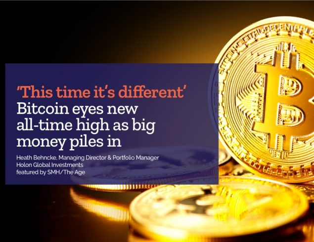 'This time it's different': Bitcoin eyes new all-time high as big money piles in.